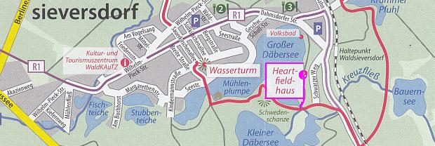 Ein Abstecher zum Heartfield-Haus lohnt immer oder die Einkehr in einer der Gaststätten / Café`s in Waldsieversdorf.
