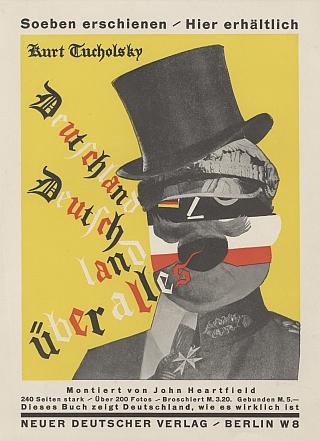 """Werbeplakat für """"Deutschland, Deutschland über alles"""" Berlin, 1929. AdK, Berlin, Kunstsammlung, Inv.-Nr. JH 3123, © The Heartfield Community of Heirs/VG Bild-Kunst, Bonn 2017"""
