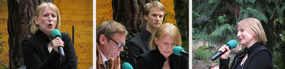 Sylvester Groth und Dagmar Manzel lesen ausgewählte Texte und Dagmar Manzel singt in Begleitung von Frank Schulte