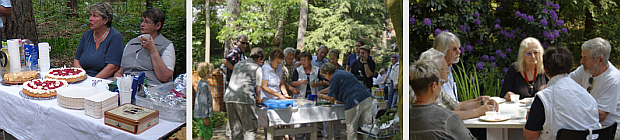 Der Freundeskreis und Waldsieversdorfer und haben Kuchen gebacken. Wir freuen uns über den Ansturm.