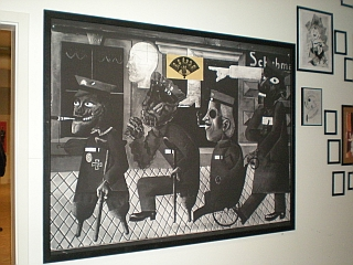 Ein Werk von George Grosz für die Dada Messe.