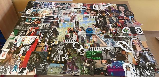 Die Mutti von Joscha, Stefanie Wördemann, hat diese Collage geschaffen.
